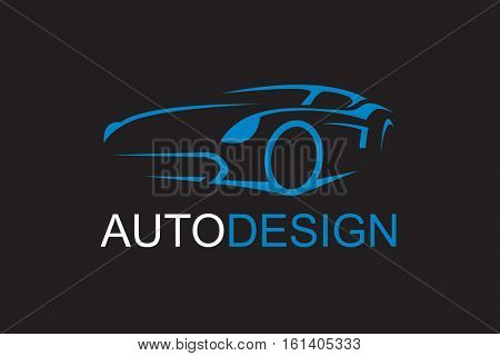 illustration of car emblem on black background