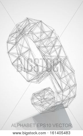 Abstract illustration of a Pencil sketched 9 with Reflection. Hand drawn 3D 9 for your design. EPS 10 vector illustration.