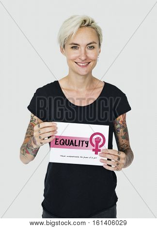 Women Girl Power Feminism Equal Opportunity Concept