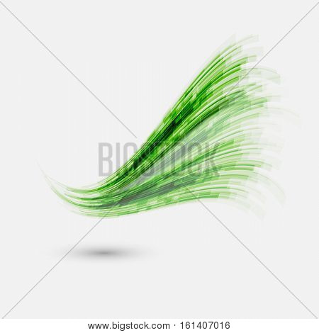 Green wave element for design, stock vector