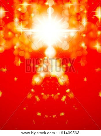 Shinny Christmas Tree, abstract  background.