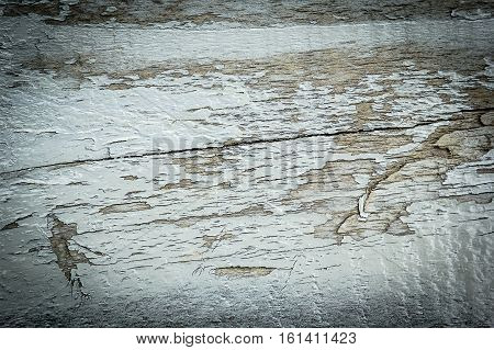 Old natural wooden shabby apinted background close up