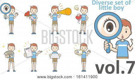 Diverse Set Of Little Boy , Eps10 Vector Format Vol.7