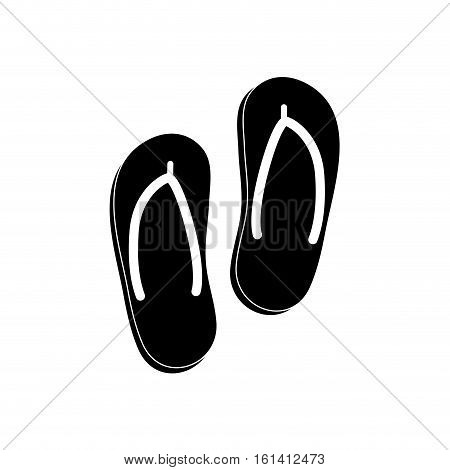 Flip flops beach sandals icon vector illustration graphic design