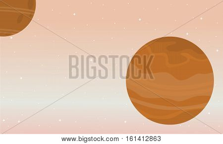 Space nature landscape collection stock vector illustration