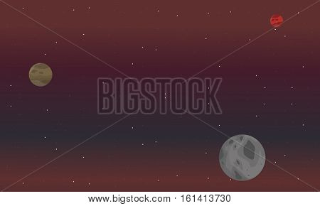 Space background landscape vector illustartion collection stock