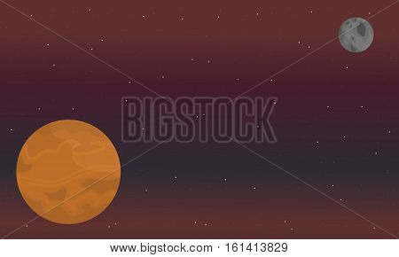 Vector of space beautiful landscape collection stock