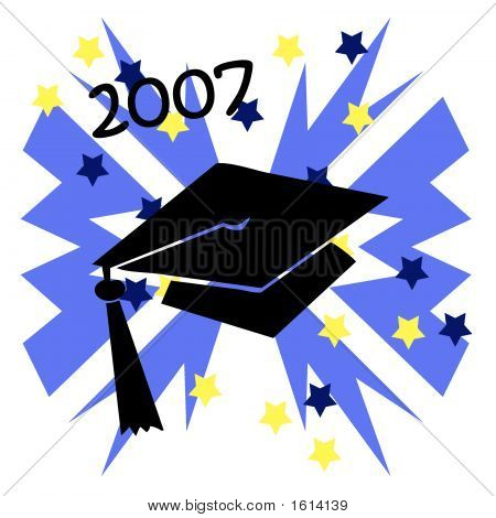 Grad Hat Blue Burst 2007
