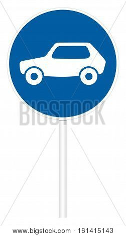 Prescriptive traffic sign isolated on white 3D illustration - Movement of cars