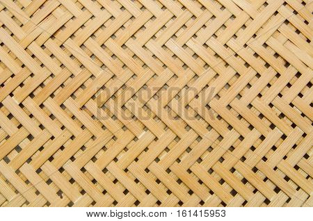 Close up woven bamboo pattern texture and background