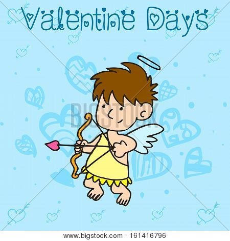 Collection stock of cupid character valentine vector art