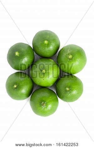 Green Lemons Isolated Background