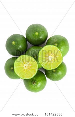 Green Lemon Isolated Background