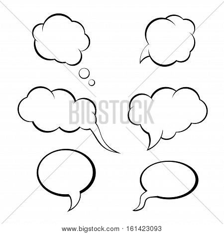 speech bubbles set, think bubble vector. speech bubble icon