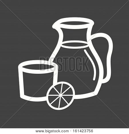 Sangria, red, juice icon vector image. Can also be used for european cuisine. Suitable for mobile apps, web apps and print media.