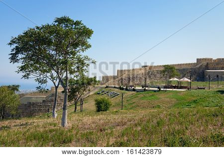 Wall In Naryn-kala Fortress. Derbent