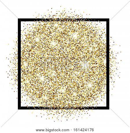 White festive golden luminous sandy background. Vector illustration.