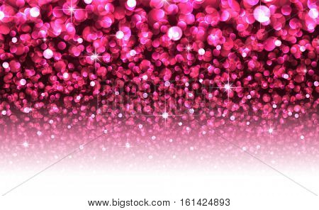 Pink abstract Christmas blurred luminous background. Vector illustration.