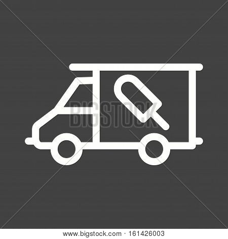 Icecream, van, vehicle icon vector image. Can also be used for town. Suitable for mobile apps, web apps and print media.