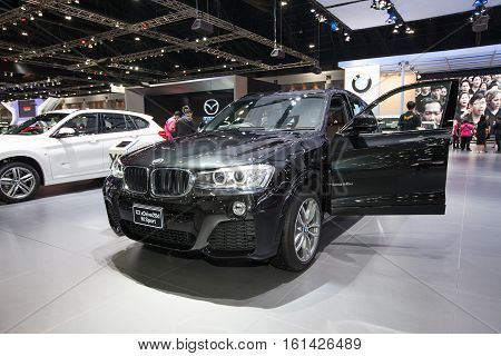 BANGKOK - November 30: BMW X3 xDrive20d M Sport car on display at Motor Expo 2016 on November 30 2016 in Bangkok Thailand.