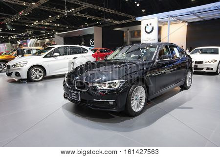 BANGKOK - November 30: BMW 320d Iconic car on display at Motor Expo 2016 on November 30 2016 in Bangkok Thailand.