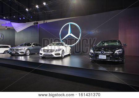 BANGKOK - November 30: Showroom of Mercedes-benz car at Motor Expo 2016 on November 30 2016 in Bangkok Thailand.