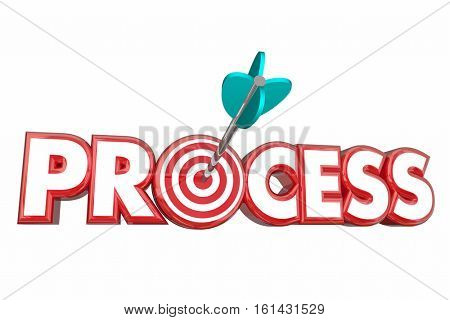 Process Procedure System Target Arrow 3d Illustration
