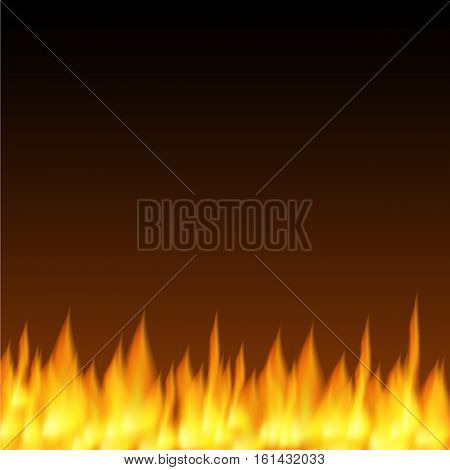 Vector illustration of Realistic fire flames background