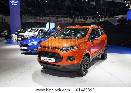 BANGKOK - November 30: Ford Ecosport car on display at Motor Expo 2016 on November 30 2016 in Bangkok Thailand.