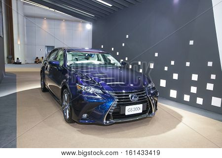 BANGKOK - November 30: Lexus GS 200t car on display at Motor Expo 2016 on November 30 2016 in Bangkok Thailand.
