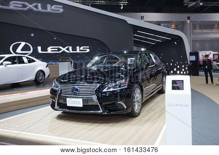 BANGKOK - November 30: Lexus LS 600h car on display at Motor Expo 2016 on November 30 2016 in Bangkok Thailand.