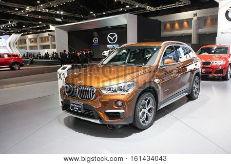 BANGKOK - November 30: BMW X1 sDrive 18i xLine car on display at Motor Expo 2016 on November 30 2016 in Bangkok Thailand.