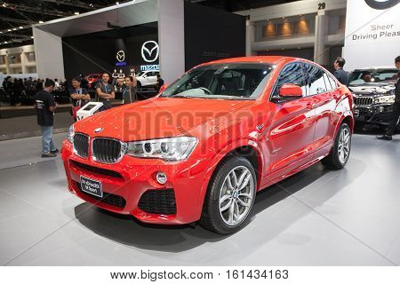 BANGKOK - November 30: BMW X4 sDrive 20i M sport car on display at Motor Expo 2016 on November 30 2016 in Bangkok Thailand.