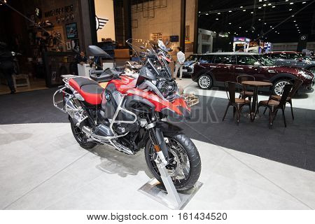 BANGKOK - November 30: BMW R1200 motorcycle on display at Motor Expo 2016 on November 30 2016 in Bangkok Thailand.