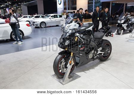 BANGKOK - November 30: BMW motorcycle on display at Motor Expo 2016 on November 30 2016 in Bangkok Thailand.