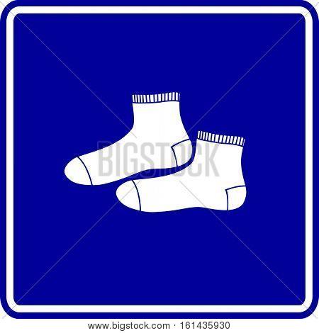 ankle crew socks sign