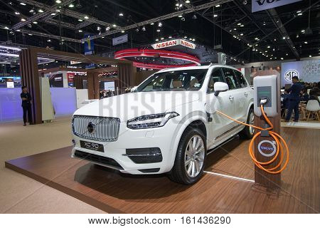 BANGKOK - November 30: Volvo XC90 Twin Engine car on display at Motor Expo 2016 on November 30 2016 in Bangkok Thailand.