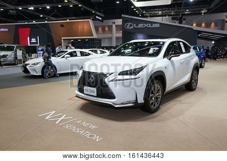 BANGKOK - November 30: Lexus NX 300h car on display at Motor Expo 2016 on November 30 2016 in Bangkok Thailand.