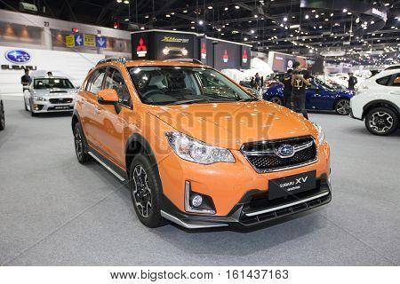 BANGKOK - November 30: Subaru XV crosstrex car on display at Motor Expo 2016 on November 30 2016 in Bangkok Thailand.