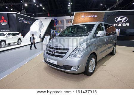 BANGKOK - November 30: Hyundai H-1 Touring car on display at Motor Expo 2016 on November 30 2016 in Bangkok Thailand.
