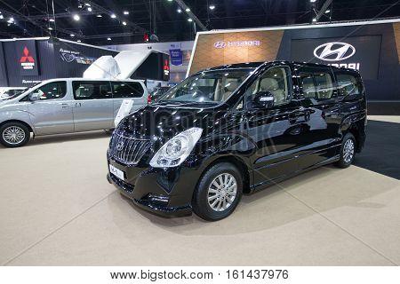 BANGKOK - November 30: Hyundai H-1 Elite Touring car on display at Motor Expo 2016 on November 30 2016 in Bangkok Thailand.
