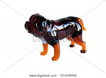 Glass figurine of the dog breed Mastiff