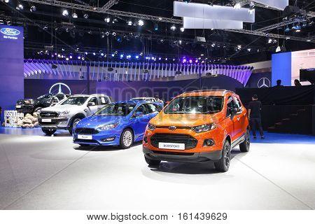 BANGKOK - November 30: Showroom of Ford on display at Motor Expo 2016 on November 30 2016 in Bangkok Thailand.