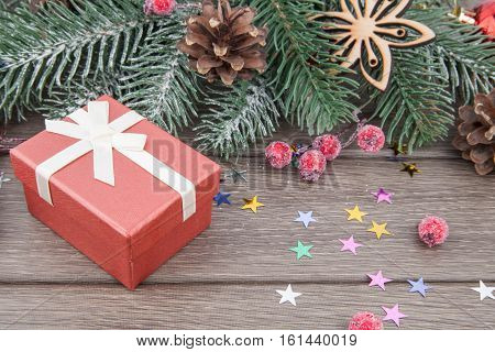 Christmas Gift And Decoration In Red