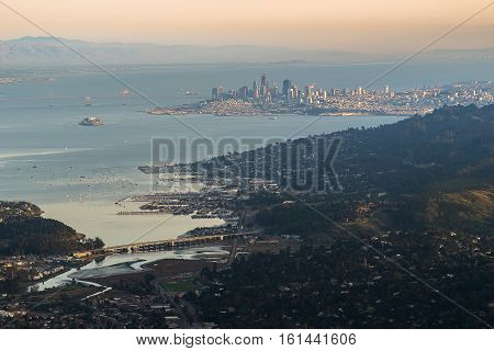 Aerail View Of Bay Area