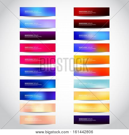 Set of gold silver bronze vector banners templates or website headers. Vector design for your banners headers footers flyers cards. Christmas golden silver beige banners