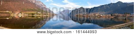 A panoramic view of Lake Idro in Sabbia Valley - Brescia - Italy
