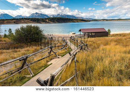 View of Jackson Lake Yellowstone National Park