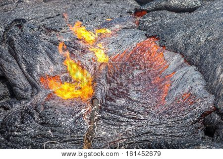 Lava Flow Close Up