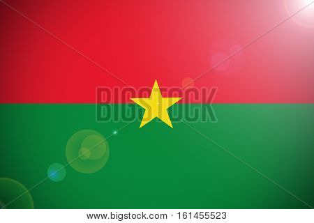 Burkina Faso flag ,Burkina Faso national flag illustration symbol